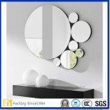 Certificación SGS de pared decorativos de cristal de espejo de plata