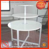 Afficher la table ronde en métal pour les vêtements