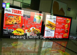 Wall Hanging Snap Moldura de alumínio LED Light Box Sign for Menu Board Publicidade Display