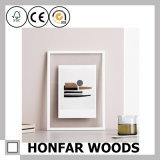 Weißer hölzerner Abbildung-Foto-Rahmen für Wand-Dekoration