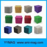 5m m cubo neo del cubo del imán de la bola del imán de la esfera de 216 imanes del PCS