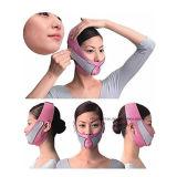 La moitié de visage anti rides Slimming joue face à la ligne de levage de masque V Slim jusqu'sangle de ceinture (rose)