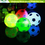 Sondagem intermitente Light-up Spiky Puffer Massaging Brinquedos de futebol