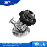 Válvulas de diafragma de fixação de saneamento de aço inoxidável