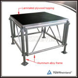 Plataforma portátil de madeira do estágio com pés ajustáveis