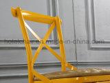 Стул дешевого желтого креста задний обедая