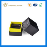 Tapete de luxo rígida branca caixa de perfume de papelão de papel com uma tampa (com bandeja acetinado interior)