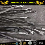 Fils en acier inoxydable de haute qualité de la corde (6X19+FC & 7X19)