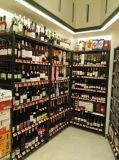 Hoogste Kwaliteit 5 de Fabrikant van het Rek van de Vertoning van de Wijn van het Metaal van het Chroom van de Rij
