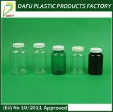 110mlペットプラスチック薬のこはく色のびん