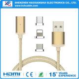 3 en 1 cable de datos de carga magnético