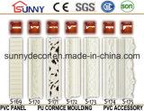 Moldes decorativos del poliuretano del panel llano de la PU de la decoración al por mayor