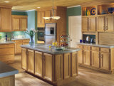 Ritz Hauptküche-Möbel-klassischer festes Holz-Küche-Schrank