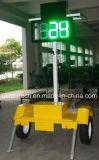 태양 강화된 휴대용 레이다 속도 교통 표지