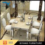 Mobiliário doméstico Mesa de jantar de casamento de aço inoxidável