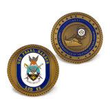 Su ordinazione la moneta dura di sfida del ricordo della moneta degli S.U.A. Usn dell'aeronautica dell'argento dello smalto del blu marino molle della moneta del metallo dell'oggetto d'antiquariato dello smalto della pressofusione