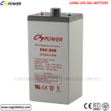 Fornecedor de gel recarregável de longa duração bateria 2V800ah para UPS