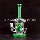 Fantistic Art-grüne Farben-Glaspfeife-Wasser-Rohr-Ölplattformen