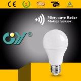 세륨을%s 가진 최신 마이크로파 감응작용 LED A60 9W 전구