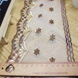 衣服及びホーム織物(BS1116)のための新しい工場在庫の卸売14.5cmの幅の刺繍ポリエステルネットのレースポリエステル刺繍のトリミングの空想の網のレース
