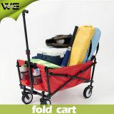 Chariot se pliant d'épicerie de bagage de service coloré avec 4 roues