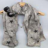 De grijze Sjaal van de Sterren van Af:drukken voor Sjaals van de Vrije tijd van de Dames van de Manier van Meisjes de Bijkomende