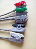 Cable médico del Leadwire ECG del broche de presión 5 del monitor 6pin Aha de Cwhm2a