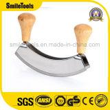 ステンレス鋼の倍の刃のMezzalunaのカッターのチョッパーの小粋なナイフ