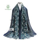 Westliche Schal-Tulpe gedruckte Satin-Silk Dame Fashion Scarf Factory