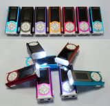 Mini Clip Screen Digital MP3 Player com LED Light / LED Torch
