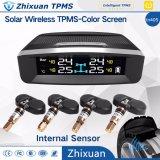 TPMS LCDの表示の無線タイヤのタイヤ圧力監視システム4センサーの太陽料金USB
