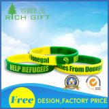 Bracelets faits sur commande promotionnels respectueux de l'environnement de bracelets de silicones de puce de bande