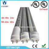 Una sola hilera de 4 pies de UL 18W 24W el tubo de luz LED