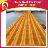 Плитка крыши синтетической смолаы PVC водоустойчивого представления Corrugated пластичная