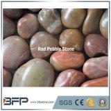 Pietra altamente Polished del fiume rosso per l'abbellimento e pavimentare