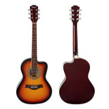 Tipo de Aiersi guitarra acústica de cor de corpo de um Cutway Lindenwood de 36 polegadas