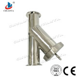 Y-Tipo sanitario filtro de la válvula industrial de agua del acero inoxidable