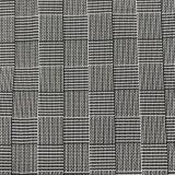 tessuto d'imitazione nero & bianco di 75D di Tartan del plaid di memoria per i rivestimenti