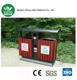 Cubo de basura verde del parque del material WPC