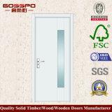 백색 페인트 거실 입구 유리제 나무로 되는 문 (GSP3-049)