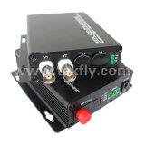 Canal 2 a 20 km monomodo FC RS485 Óptico Digital Video Converter