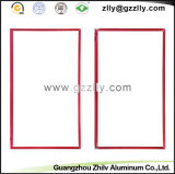Frame de alumínio vermelho da tevê dos acessórios do perfil para a decoração