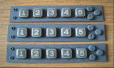 Botão numérico/OEM botão numérico de borracha/Teclado de borracha de silicone com tampa de plástico (P+R)