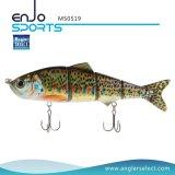 マルチ接合された採取のリアルな小魚の魅惑の低音の餌のSwimbaitの浅い釣り道具釣魅惑(MS0519)