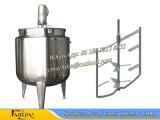 tanque de mistura do aço 2000L inoxidável com o reator de tanque 2t Jacketed da ondulação
