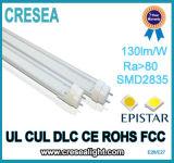 Luz aislada de calidad superior aprobada del tubo del programa piloto T8 LED de Dlc del cUL de la UL