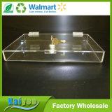 16.5 par le cas d'exposition acrylique de la partie supérieure du comptoir 16.25-Inch avec 2 étagères