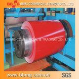bobina de acero cubierta /Color galvanizada densamente prepintada de 0.35m m /PPGI con Z30g para la azotea del metal