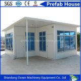 Casa prefabricada del envase de la casa modular móvil de la casa de la estructura de acero