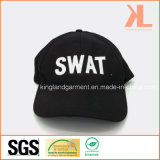 Gorra de béisbol negra militar del bordado del golpe violento del taladro del algodón